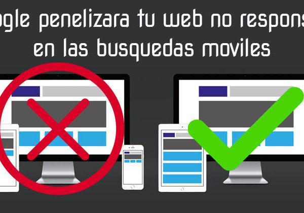 Google penalizara tu web no responsive en las búsquedas móviles