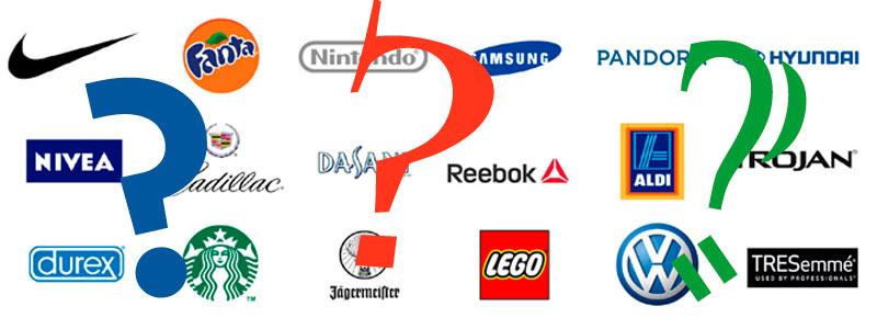 Cual es el significado de algunas marcas que conoces.